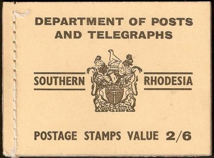 1954 Southern Rhodesia stamp booklet