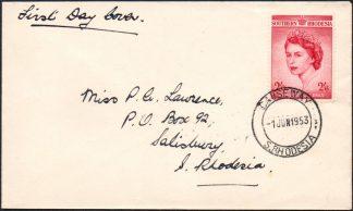 Southern Rhodesia 1953 FDC