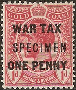 Gold Coast War Tax stamp