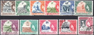 Basutoland 1954 used definitives set