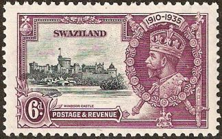 Swaziland 1935 Silver Jubilee variety