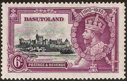 Basutoland stamp, Silver Jubilee variety