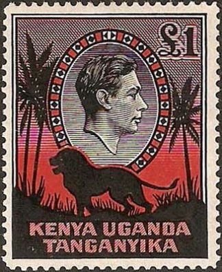 1938-54 £1 black & red