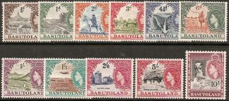 Basutoland 1954 definitives set
