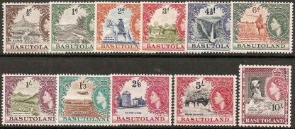 Basutoland 1954 definitives set