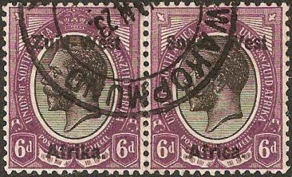 1923 South West Africa 6d