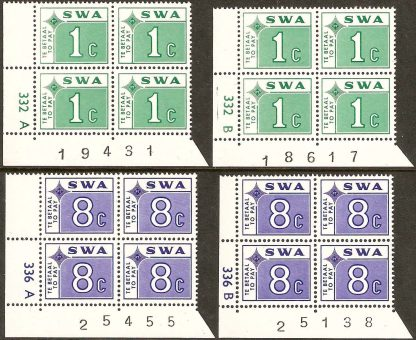 South West Africa 1972 Postage Dues