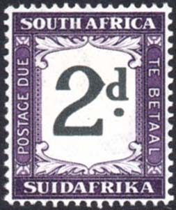 South Africa Postage Due thick 2d