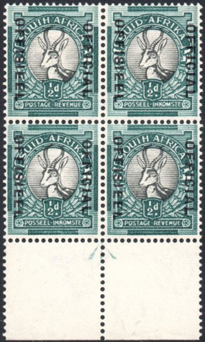 South Africa Officail stamp O31