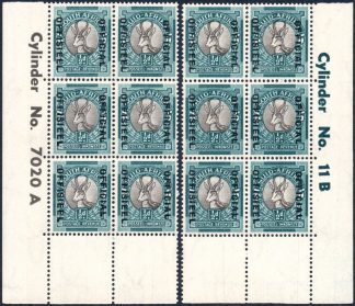South Africa Official stamps cylinder block