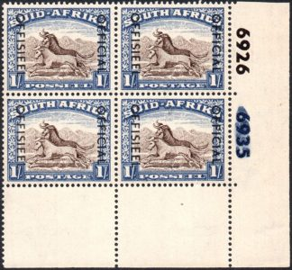 South Africa Official stamps, cylinder block
