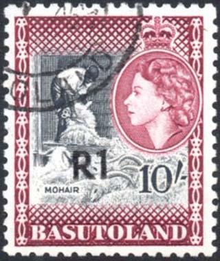 Basutoland R1 surcharge used
