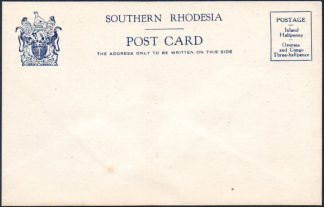 Southern Rhodesia stationery postcard