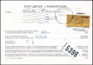 South West Africa postage due postcard