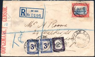 South Africa 1940 taxed cover
