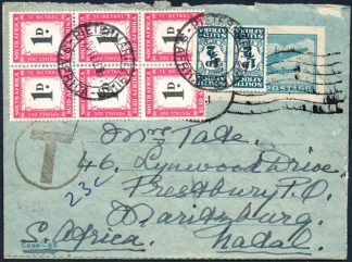 1951 incoming airletter with postage dues