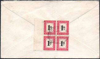 D39 block of 4, used on cover