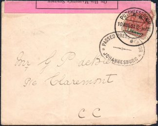 1901 Transvaal censor cover