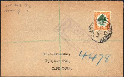 South Africa 1926 6d first day cover