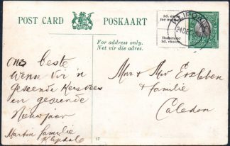 South Africa ½d postcard