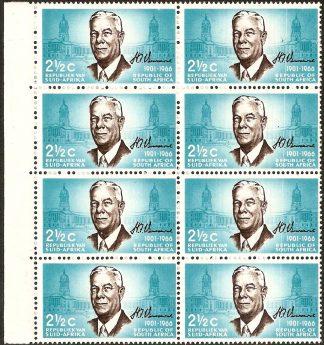 South Africa 1966 2½c Verwoerd SG 266