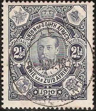 South Africa 1910 2½d used in Swaziland