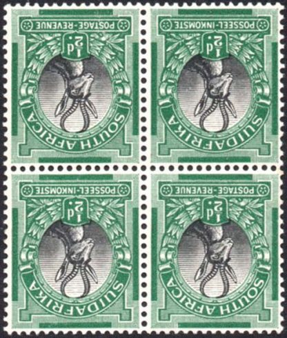 South Africa 1927 ½d watermark inverted