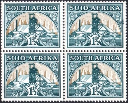 South Africa 1933-48 1½d Bulge in Frame variety