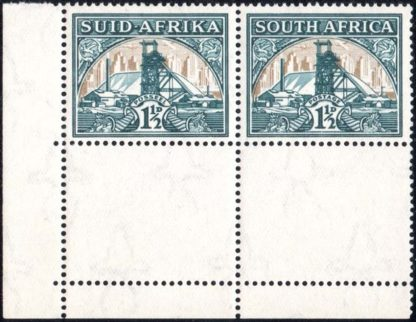 South Africa 1933-48 1½d Flag on Chimney
