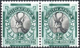 South Africa 1930-44 ½d doctor blade flaw