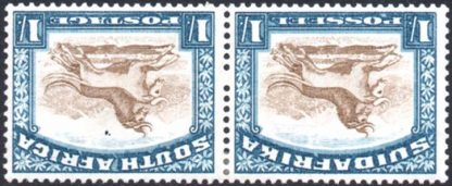 South Africa 1930-44 1s wmk inverted