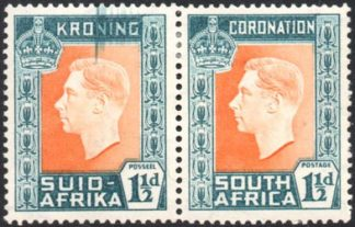 South Africa 1937 1½d Coronation