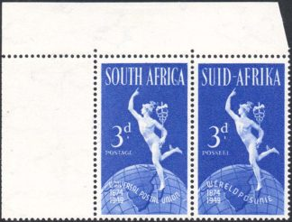 South Africa 1949 3d UPU Serif on C