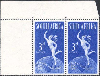 South Africa 1949 3d UPU Serif on C