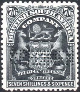 1898-1908 7s6d Specimen SG88s