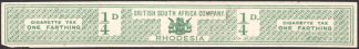 Rhodesia Cigarette Tax label