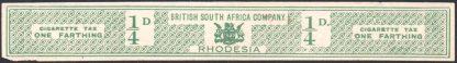 Rhodesia Cigarette Tax label