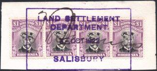 Rhodesia £1 Admiral SG 311