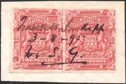 Rhodesia 1892-3 £2 fiscally used