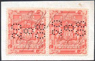 1897 £2 perf 15 pair