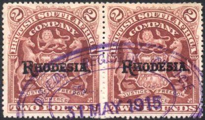 Rhodesia 1902-12 £2 brown