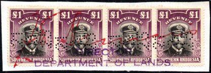 Southern Rhodesia £1 revenue