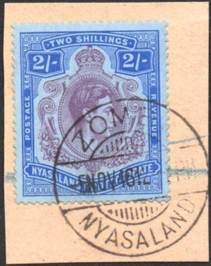 Nyasaland 1938-44 2s used