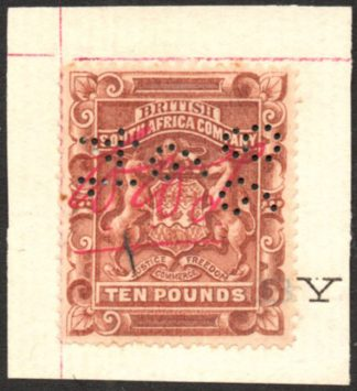 1892-3 £10 brown fiscally used