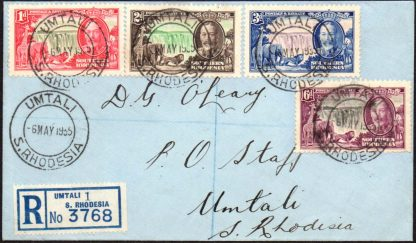 Southern Rhodesia 1935 Silver Jubilee first day cover