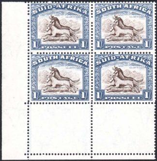 South Africa 1933-48 1s corner block