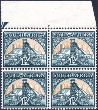 1941-8 1½d bevelled corner variety