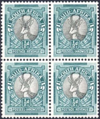 South Africa 1947-54 ½d variety
