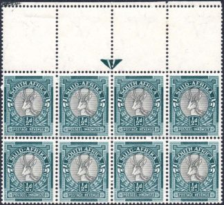 South Africa 1947-54 ½d arrow block