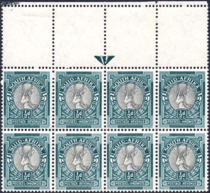 South Africa 1947-54 ½d arrow block